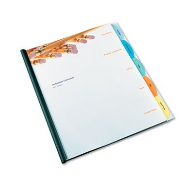 Divider Presentation Kit (GBC View-Tab Paper Presentation Kit for Binding Systems, Unpunched Paper Dividers with 1 Set of 5 Square Tabs, Clear (W55980))