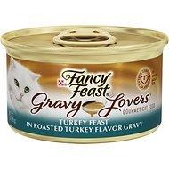 (Fancy Feast Gravy Lovers Turkey Feast in Roasted Turkey Flavor Gravy Cat Food, 3 oz, 12)
