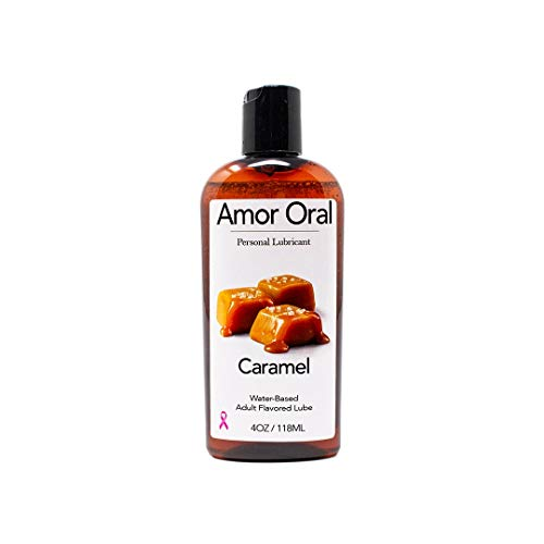 Caramel Flavored Lube - 4oz. - Delicious Water Based Flavor for Men & Women - Food Grade Ingredients, pH Balanced, - Flavored Based Lube Water