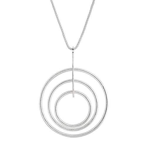 Silpada 'Che Figata' Graduated Circle Pendant Necklace in Sterling Silver