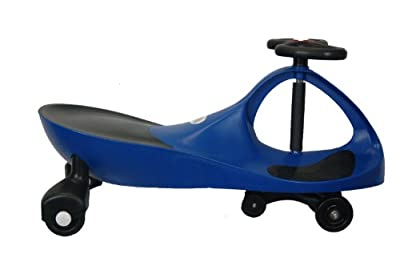 KMS157301 True Blue Kids Motor Store Rolling Coaster Wiggling Race Car Premium Scooter