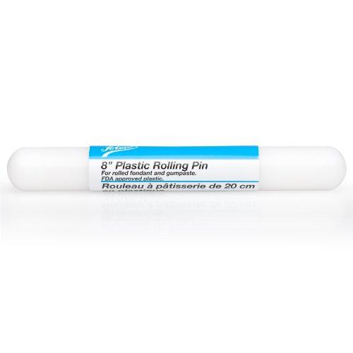 Ateco 7510 Fondant and Gum Paste Rolling Pin, Non-stick Food Grade Plastic, 8-Inches Long