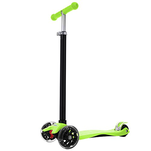 Dongchuan Kick Scooter Adjustable Height Scooter For Kids Christmas Gift with 4 PU LED Wheels for Children 3-12-year-old | Smooth & Fast Quiet