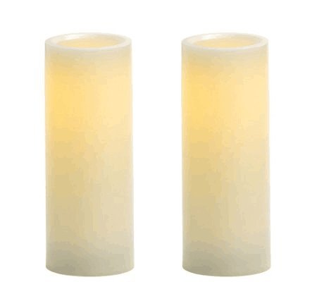 Onlyhome Flameless Candles,LED Pillar Battery Operated Candles,Set of 2 Ivory Wax