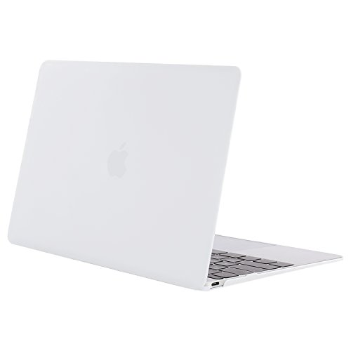 MOSISO Plastic Hard Shell Case Cover Compatible MacBook 12 Inch Retina Display Model A1534 (Version 2017/2016/2015), White