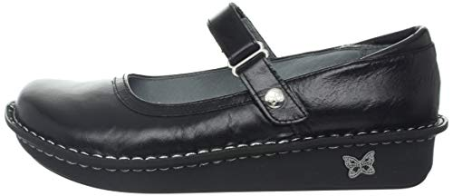 Pictures of Alegria Women's Belle Mary Jane Flat Black Crinkle 35 M EU 4