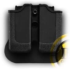 1911 .45 Double Paddle Gun Magazine Pouch Black Rotates 360 degrees durable polymer 31ZIQRUl0gL