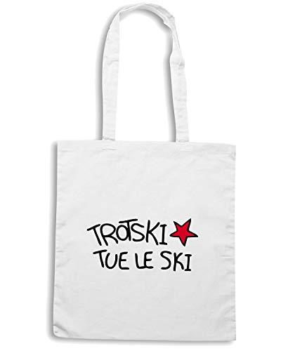 TROTSKI SKI LE Borsa TCO0132 Shopper TUE Bianca Speed Shirt X8q76F