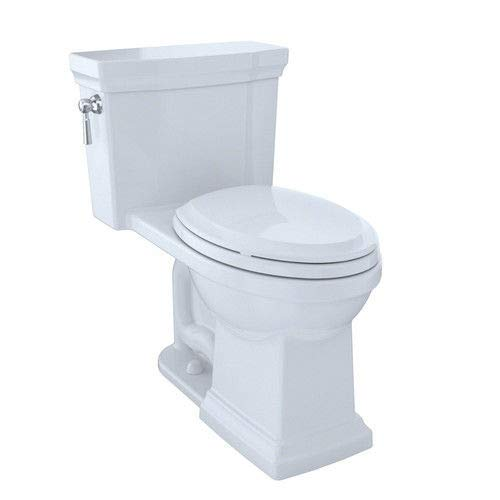 TOTO MS814224CEFG#01 Promenade II One-Piece Elongated 1.28 GPF Universal Height Toilet with CeFiONtect, Cotton