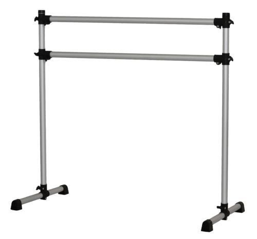 WYZworks Double Ballet Barre Yoga Stretch Dance Training Bar 4 feet - Lightweight Adjustable with Portable Bag