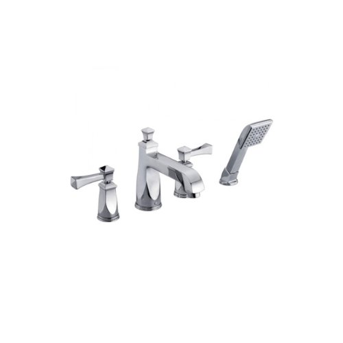 Yosemite Home Decor YP2219-PC  8-Inch widespread Tub Faucet with Hand Held Shower, Small, Polished Chrome (Pull Out Tub Sprayer)