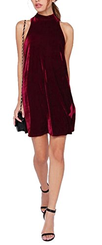 Allbebe Womens Velvet High Necked Sleeveless
