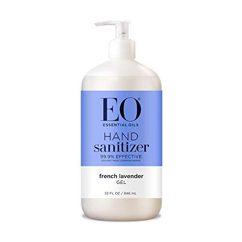 Eo Essential Oil Hand Sanitizing Gel, Organic Lavender - 32 Oz