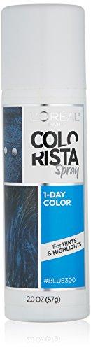 L'Oreal Paris Hair Color Colorista 1-Day Spray, Blue, 2 Ounce