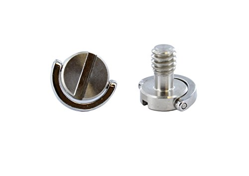 ABN | D Ring Screw, 2 Pack - 1/4 Inch-20 Camera Screw Tripod Adapter Quick Release Plate Screw Camera Mount Screws