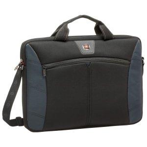(SwissGear 17.3-Inch Sherpa Slim Case for Notebook, Black/Blue (GA-7501-06F00))