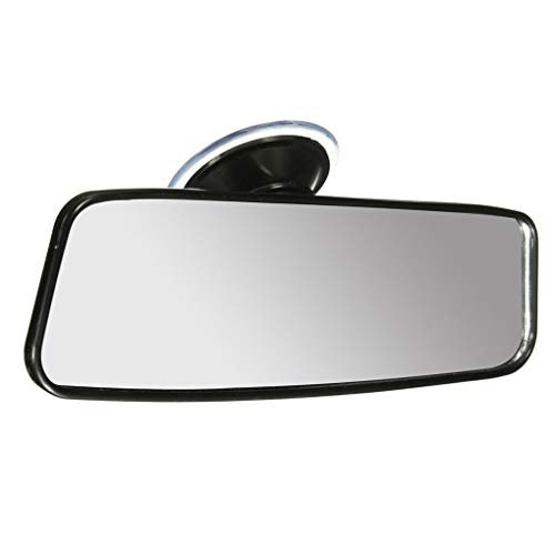 Rgrtmer Universal 200mm Car Truck Wide Flat Interior Rear View Mirror Vehicle Suction Stick Rearview Mirror ()