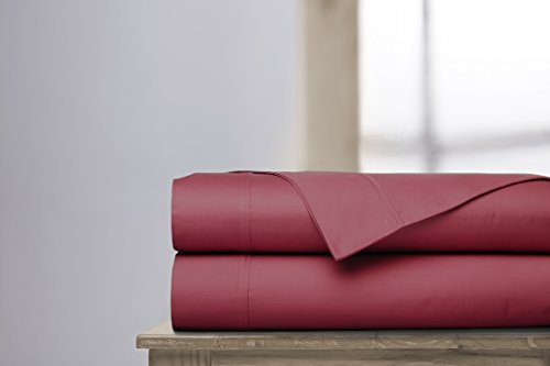 Grayson Home Luxury Bed Sheets Set - 600 Thread 100% Cotton Egyptian Like Quality - King, Garnet by Grayson Home