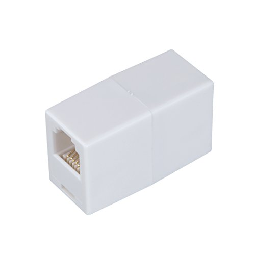 AmerTac - Zenith TS1001CW TS1001CW 6 Conductor Inline Coupler, White Landline Telephone ()