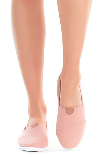 Slip Sneakers Canvas Mauve Elastic Daily Gore Casual with Flats Soft Women's Flat On Classic 56qnx7H