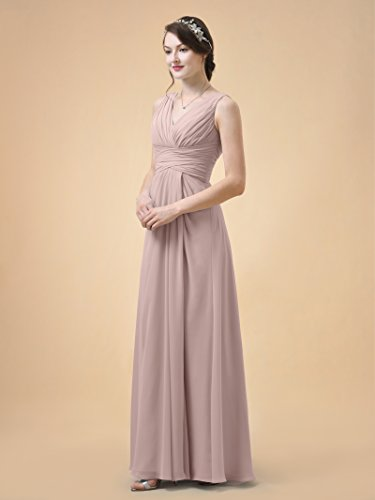 Line Bridesmaid Alicepub Party Prom A Chiffon Neck Dress Gown Pink V Dress Silver Long Maxi wqttF1B0xr