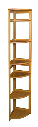 Regency Flip Flop 67-inch High Corner Folding Bookcase- Medium Oak