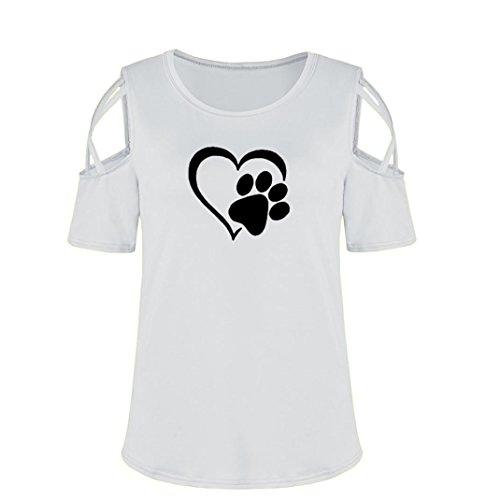 IMJONO T-Shirt Frauen Sommer Kurzarm Riemchen Cold Shoulder Tops Blusen Y-grau Gm8Fwo6URQ