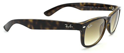 Ray-Ban RB2132 New Wayfarer Gradient Unisex Sunglasses (Light Havana Frame / Brown Gradient Lens 710/51, 55)
