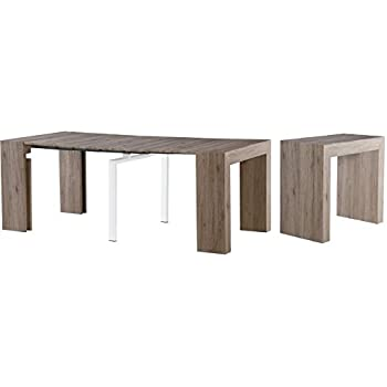 Convertible Dining Table Wood Contemporary