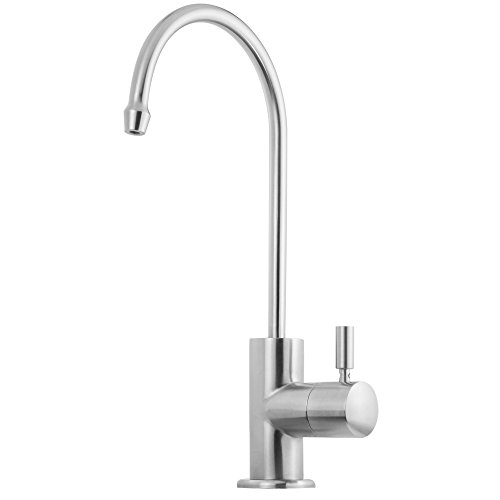 Satin Stainless Steel Tubing - Geyser GF30-S Stainless Steel Water Filter Faucet with 1/4