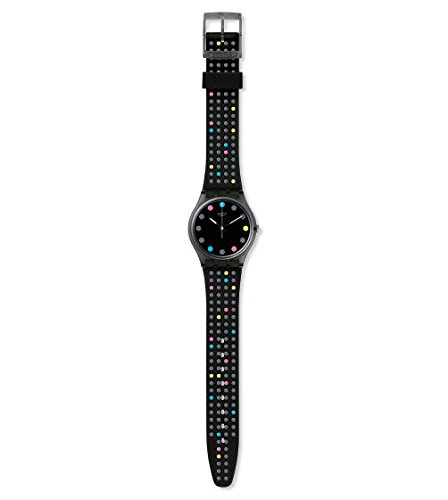 Amazon.com: Swatch Originals Boule A Facette Black Dial Silicone Strap Unisex Watch GB305: Watches
