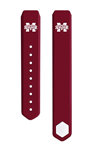 College Bulldogs Watches Mississippi State (Mississippi State University Bulldogs Silicone Sport Band Fits on FitBit Alta - 3pc Set)