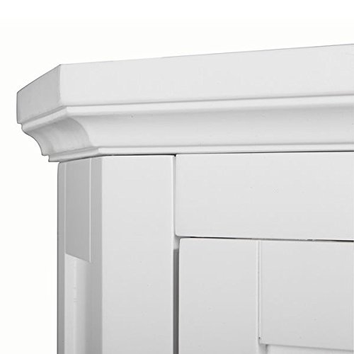 Modern Adjustable Bayfield Shutter Door Corner Floor Cabinet White Finish by Elegant Home Fashions (Image #5)