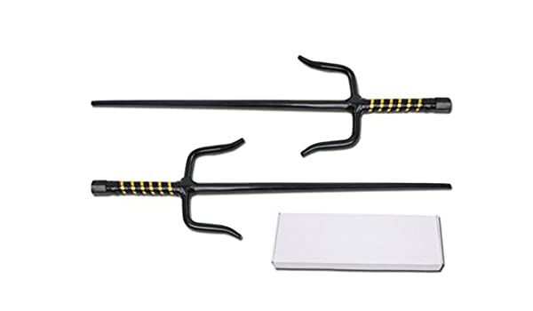 Amazon.com : DevilFish Ninja Sai Set with Black & Gold ...