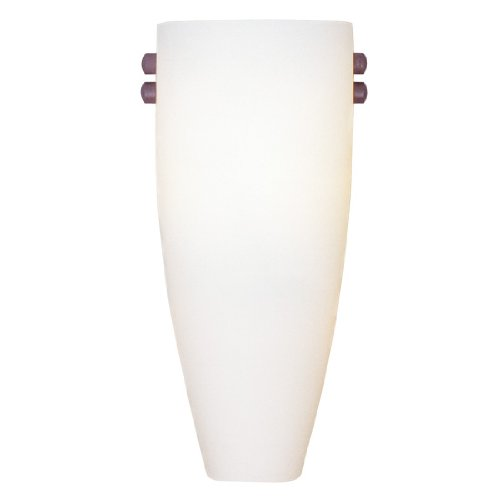 Livex Lighting 4480-99 Coronado 1 Light ADA Wall Sconce with Vintage Scavo Glass with AB, PB, BK, BN Glass Holders Included