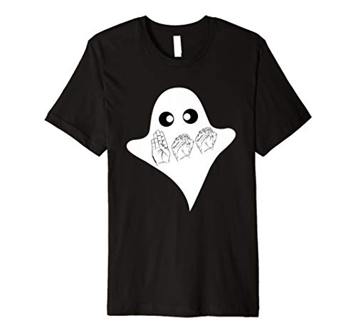 BOO ASL Sign Language Funny Ghost Halloween T-Shirt ()