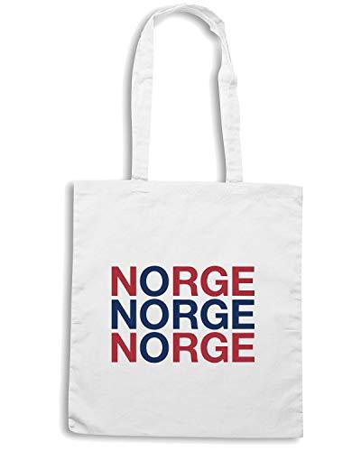 Speed Borsa Shopper Bianca WC0525 NORWAY Shirt HRHqFr6n