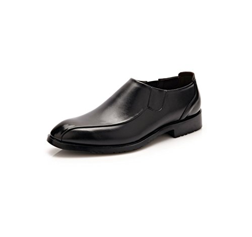 Casual in Pelle da Uomo Scarpe Business Punta Rotonda Soft Ribbon Primavera Estate Autunno Inverno Sport A Colori Black