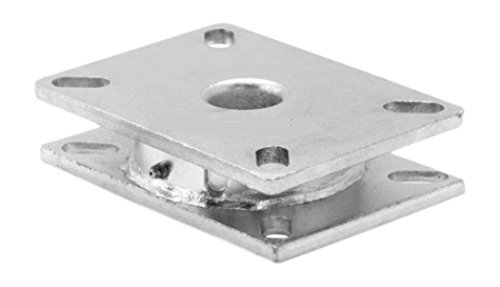 Albion TT110000 Contender Industrial Turntable, 1/4'' Thick Mounting Plates, 3/8'' Ball Bearings, 4'' x 4-1/2'' Top Plate, 1400 lb. Capacity