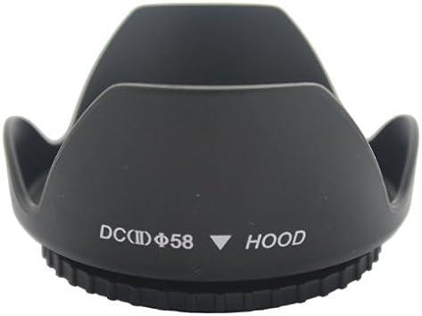 vhbw Parasole Universale 55mm nero per Panasonic