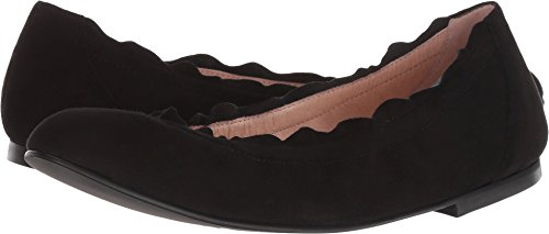 Suede French Sole Flats (French Sole Women's Cuff Flat Black Suede 7 M US)
