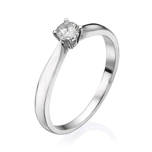 Diamond Musée 14K Or Blanc Bague-1,60Gr