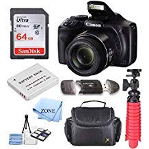 Canon PowerShot SX540 HS 20.3MP Digital Camera with 50x Optical Zoom + 64GB Delux Accessory Bundle by Accessory Zone