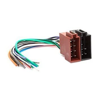 31ZIvDaHHEL._SL500_AC_SS350_ amazon com carav universal male iso car radio wire cable, wiring iso wire harness at aneh.co