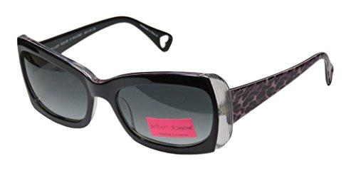 Betsey Johnson Shady Lady BJ0108 Sunglasses BJ 0108 Raven/Rose - Case Betsey Johnson Sunglasses