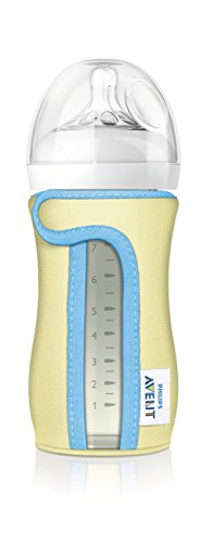 Philips Avent Glass Baby Bottle Sleeve, 8 Ounce (Colors May Vary)