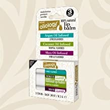 Oliology 100% Natural Lip Balm Shea/Coconut/Argan Oil Infused Assorted by Oilology