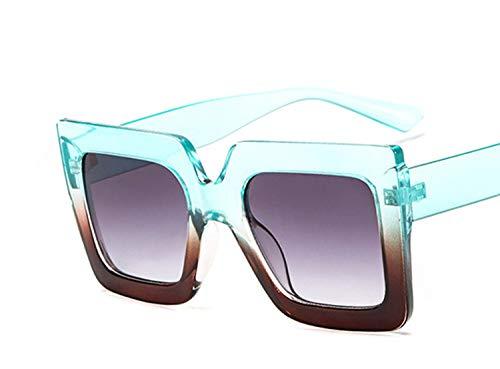 New trend square bicolor sunglasses catwalk sunglasses ladies transparent sunglasses,Green under the (Pre Owned Mercedes)