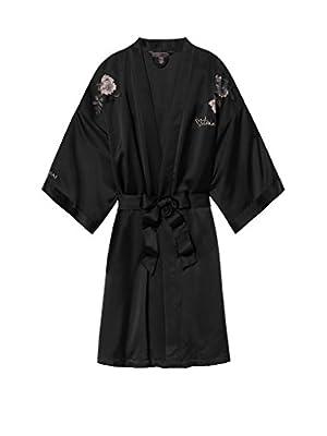 Victoria's Secret Fashion Show Shanghai 2017 Satin Embroidered Kimono Robe Black