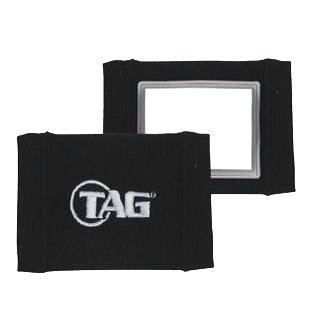 Coach Single Window - TAG Adult Quarterback Wrist Band (Single Window) Black